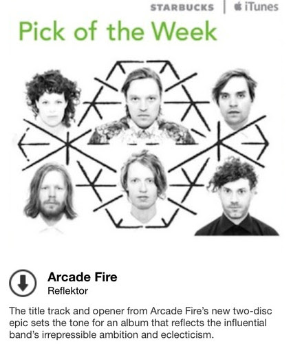 Starbucks iTunes Pick of the Week - Arcade Fire - Reflektor