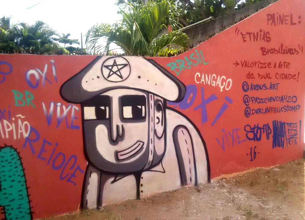 Painel Etnias Brasileiras: ação do coletivo em Ponta Negra