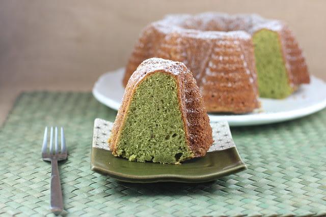 Matcha Green Tea Creme Fraiche Bundt