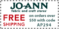 Free shipping at Joann.com! Code: AP168