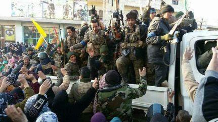 La brigata afgana durante un'operazione militare a Nubel