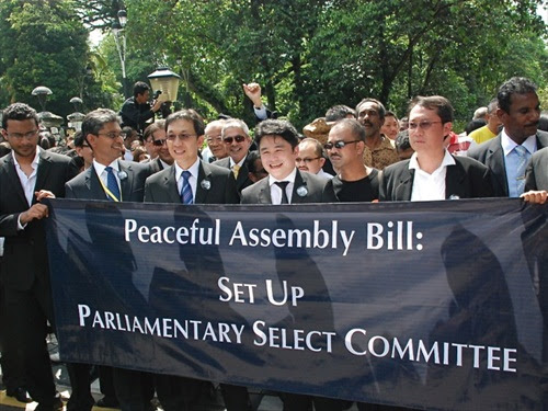 Bar Council Committee Peaceful Assembly Bill Walk