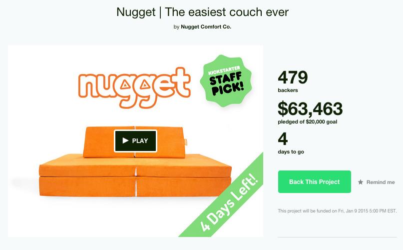 How Nugget Comfort Co. Has Raised Over $60K on Kickstarter
