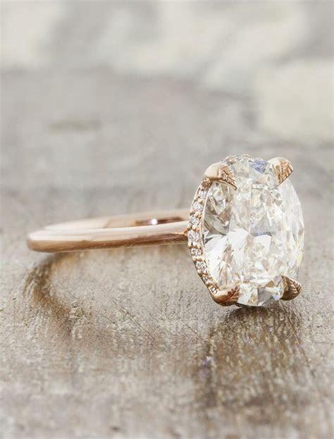 Isabella: Modern Oval Diamond Engagement Ring   Ken & Dana