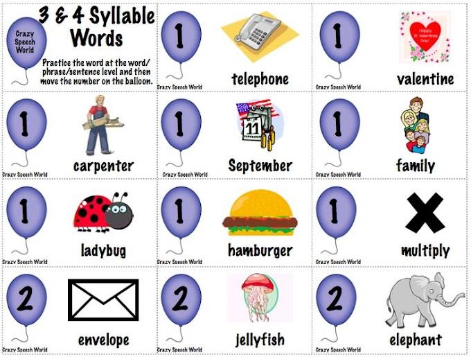 Multisyllabic Words Speech Therapy