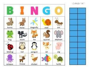 Free Printable Animal Bingo Printable Preschool Activity - file ...