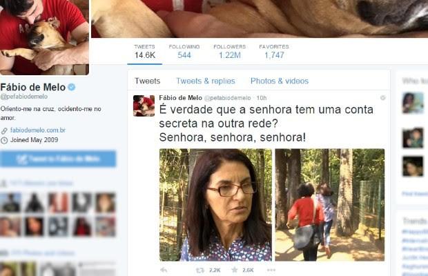 No twitter, Padre Fábio de Melo brinca com fuga de servidora interrogada pela repórter de Goiás. (Foto: Reprodução/Instagram)