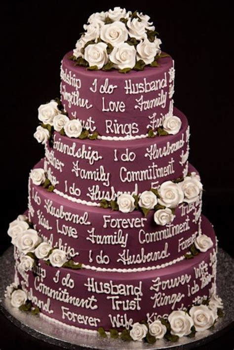 98 best Plum colored Wedding CAKES! images on Pinterest