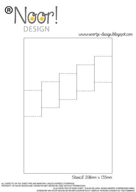 Stempeleinmaleins: Vertikale Treppenkarte - vertical step card