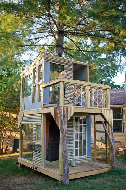 Mod Tree House - modern - kids - nashville - by Bjon Pankratz