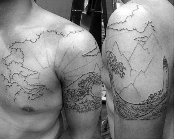 60 Rising Sun Tattoo Designs For Men Japanese Ink Ideas