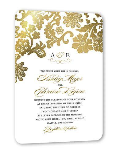 Luscious Lacing 5x7 Wedding Invitations   Shutterfly