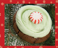 Candy cane cupcake from Cupcake Royale