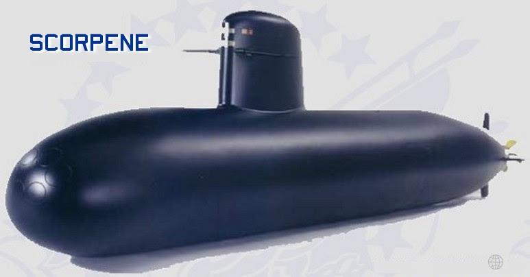O submarino Scorpene comporá a futura frota de submergíveis de nossa Marinha.