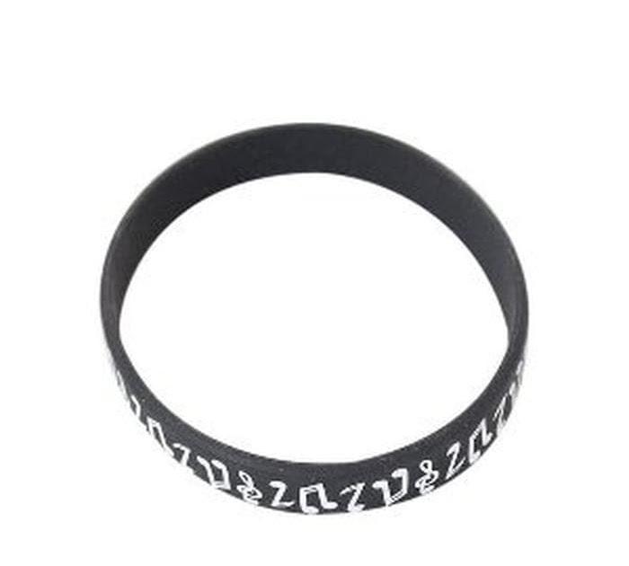 BELI Unik Notes Wristband - Black . Gelang Karet . Motif Musik Murah 0c4710e788