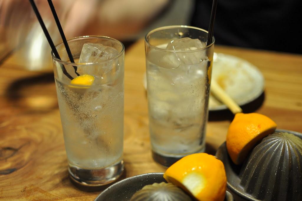meyer lemon chu-hai cocktails