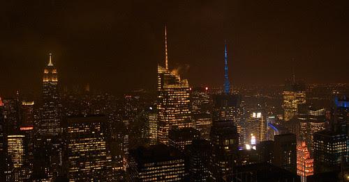 NY night skyline