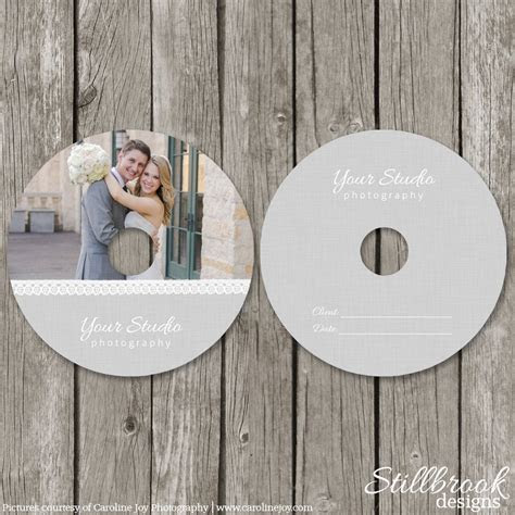 CD/DVD Label Templates Wedding Photography CD Label Cover