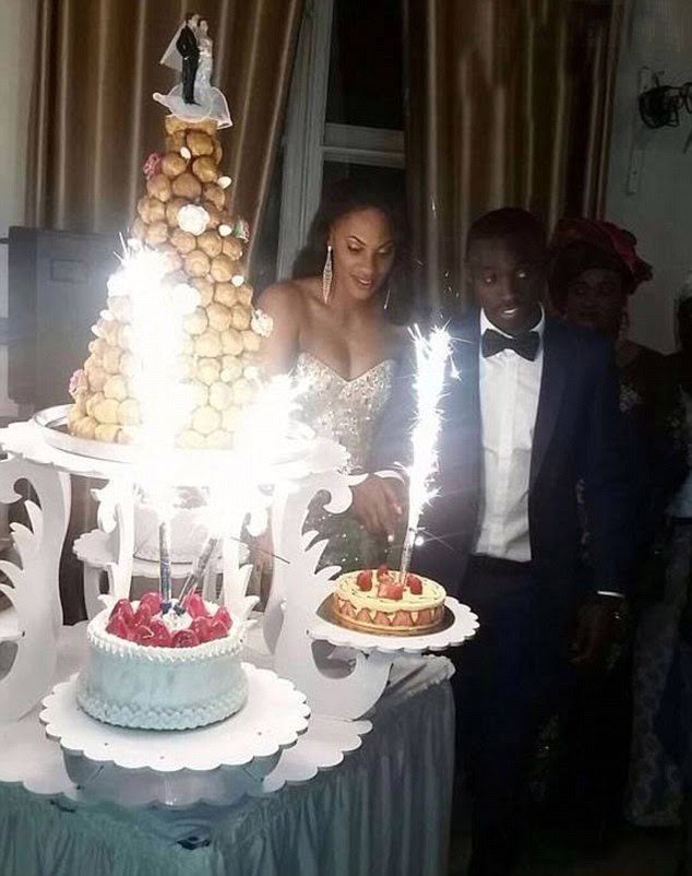 Secret wedding: Papiss Cisse has left his on-off girlfriend heartbroken after she saw these pictures of his marriage to Diallo Awa three days after he said he was going on holiday