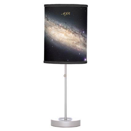 Monogram Spiral Galaxy outer space picture Lamps