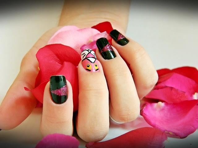 juliana leite nail art pink pantera cor de rosa unhas decoradas 007