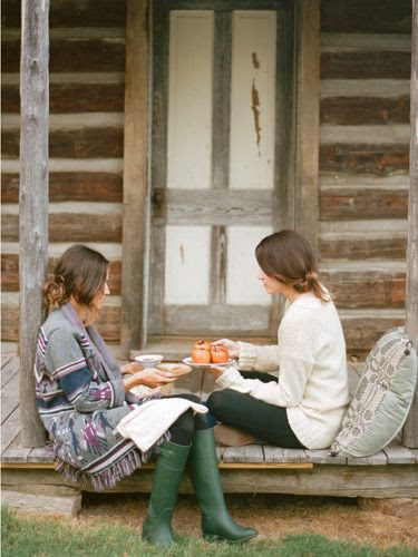 yes please. tea/coffee & chitchat :}