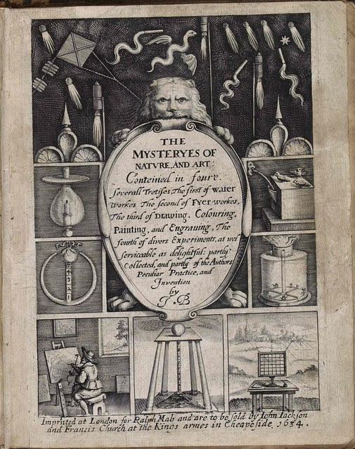 titlepage of Mysteryes of Nature by John Bate 1634