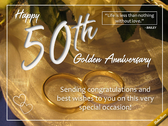 For A 50th Wedding Anniversary Free Milestones Ecards Greeting