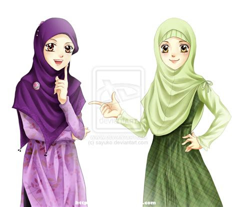 illustration   muslim women  hijab muslim anime