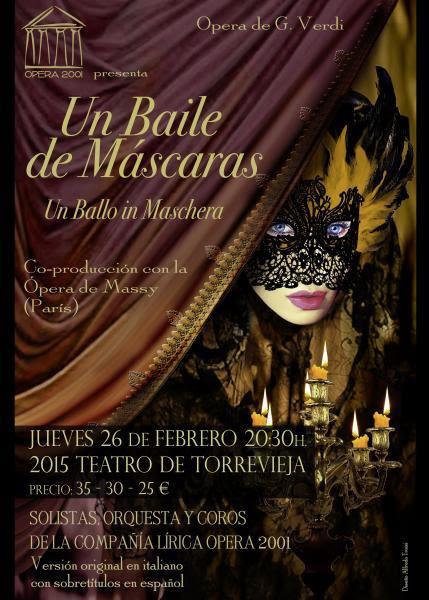 Un baile de Máscaras. Ópera de Verdi