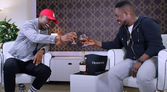 CAPTION THIS!! Give This Photo Of Vector And MI A Befitting Caption (Best Caption Wins)