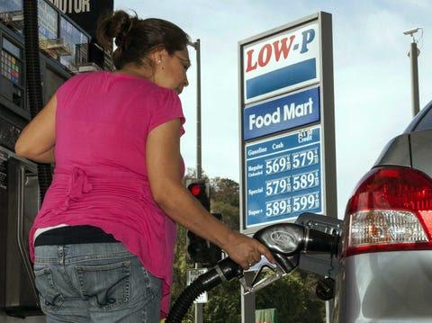 california gas station