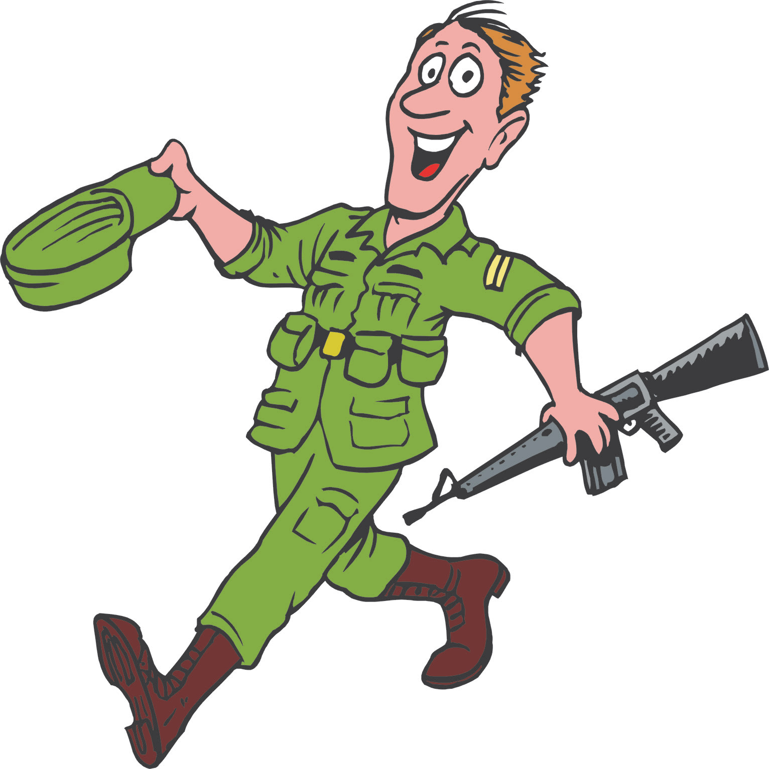 64 Army Cartoon Coloring Pages Images & Pictures In HD