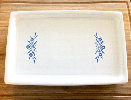 Blue Cornflower CorningWare Baking Tray