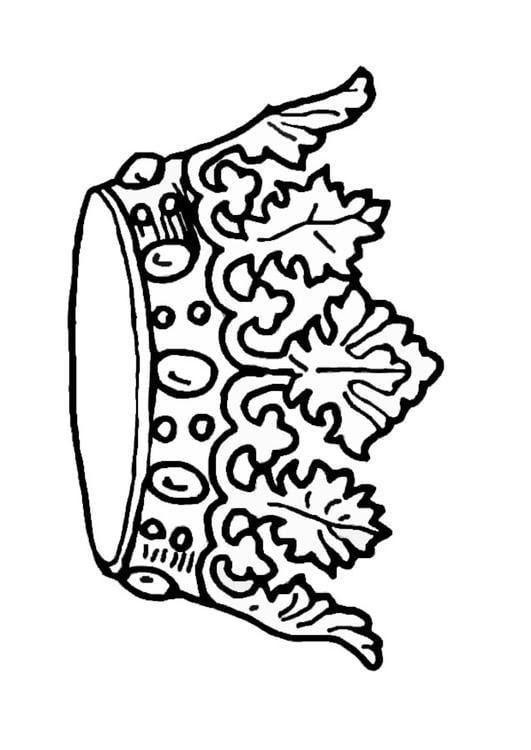 Dibujo Para Colorear Corona Del Rey Img 9068