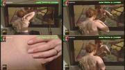 Isabel Medina a apalpar o seio em frente ao espelho na novela Filhos do Vento - 1920x1080 - link ok 22-03-2020
