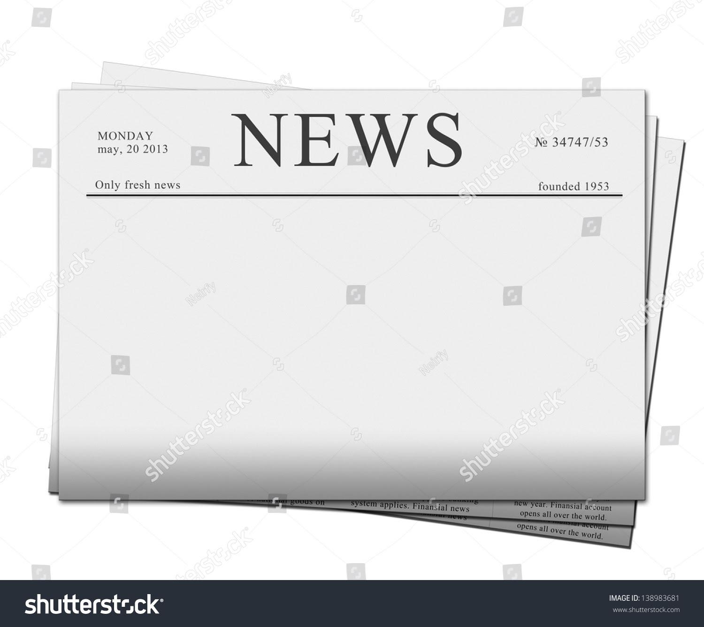 Mock Blank Newspaper Empty Space Add Stock Illustration 138983681 ...