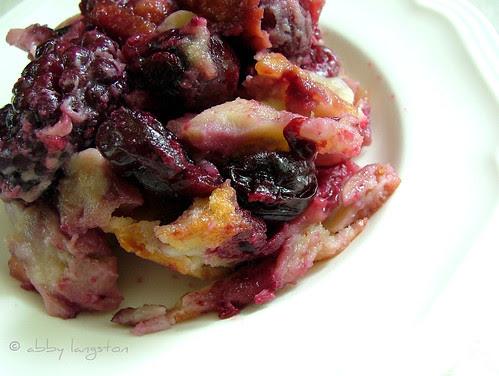 Cherry-Blackberry Clafoutis