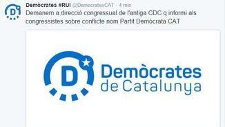 Demòcrates de Catalunya avisa Convergència que no faci servir Partit Demòcrata Català