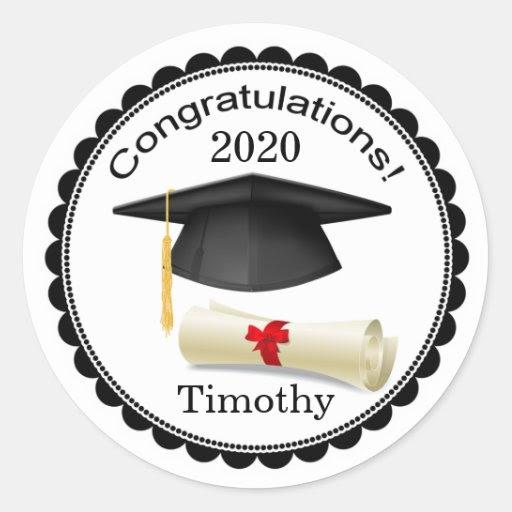 black_mortar_diploma_your_name_graduation_sticker rf3b5dcfd51b34b38b349979b7f77180a_v9waf_8byvr_512