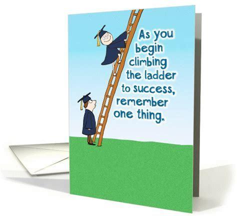 Funny Ladder of Success Graduation card (1374574)