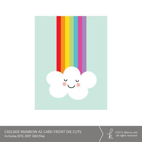 Cascade Rainbow A2 Card Kit (SVG Files Included)
