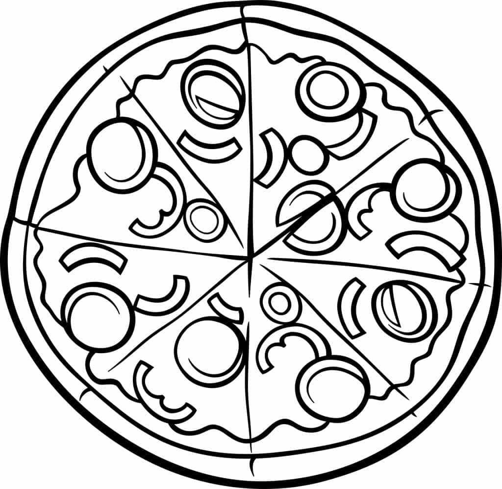 Pizza Coloring Sheet for Kids