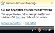 Windows Genuine Message