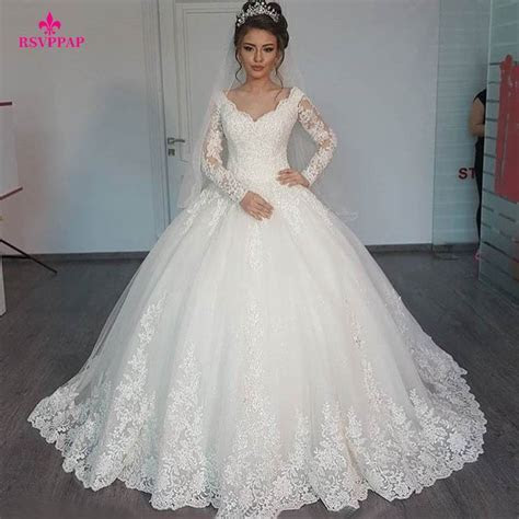 Aliexpress.com : Buy Gorgeous Sheer Ball Gown Wedding