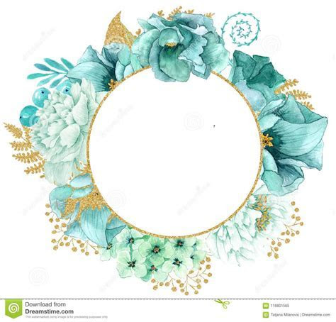 Watercolor frame stock illustration. Illustration of
