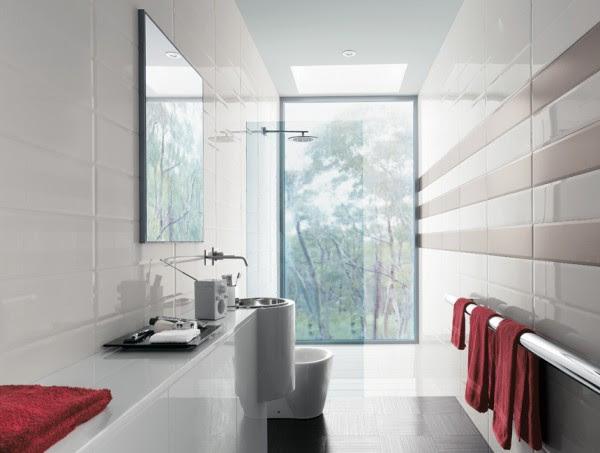 Modern striped tile design