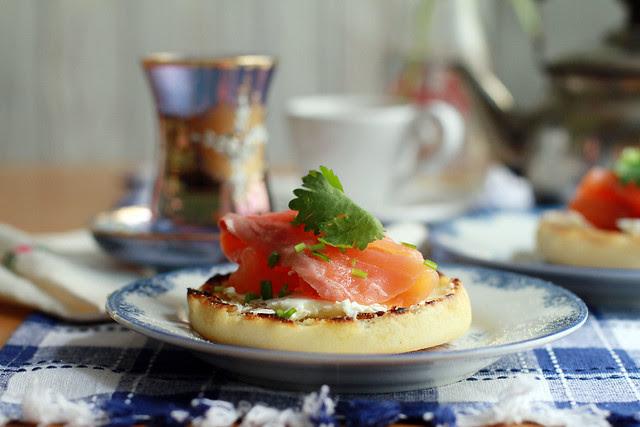 Smoked Salmon, English Muffin & Cream Cheese Breakfast