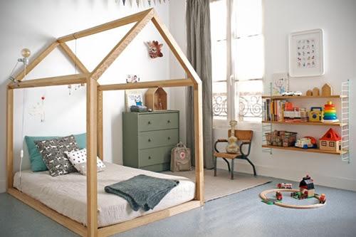 habitacion infantil casita 1 Una cabaña en la habitación infantil