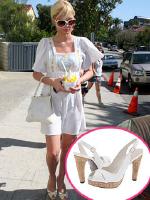 Paris Hilton wearing Stuart Weitzman